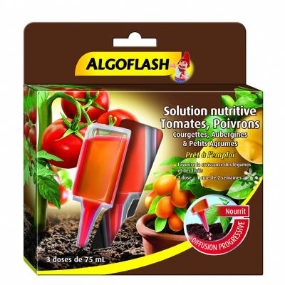 Solutions Nutritives Tomates, Poivrons de 75 ml Algoflash