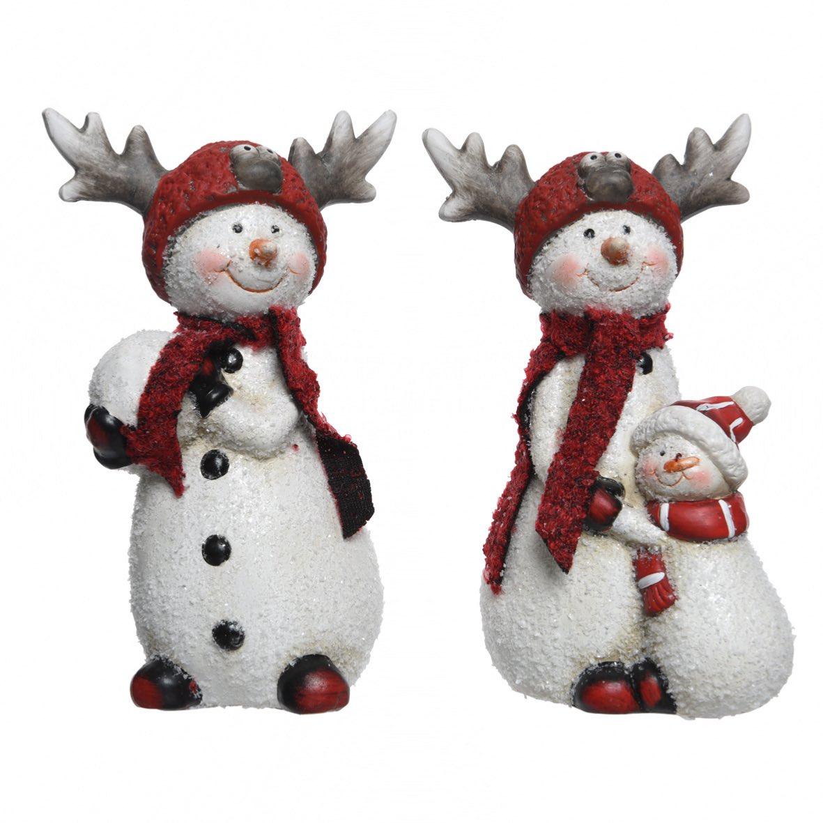 bonhommes de neige en terre cuite