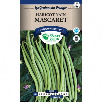Graines Haricot Nain Mascaret 200 gr - Les Doigts Verts