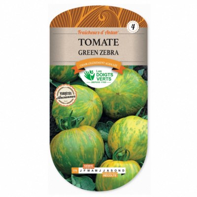 Graines Tomate Green Zebra, Les Doigts Verts