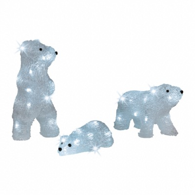 Famille Ours et Ourson Acrylique LED Blanc Froid Lumineo