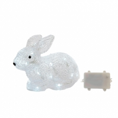 Lapin Lumineux à LED Blanc Froid 20 cm. - Lumineo