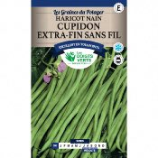 Graines Haricot Nain Cupidon Extra Fin sans Fil 150 gr - Les Doigts Verts