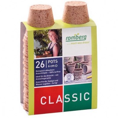 Pack de 26 Pots Biodégradable Rond 6 cm Romberg