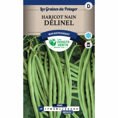 Graines Haricot Nain Delinel 50gr - Les Doigts Verts